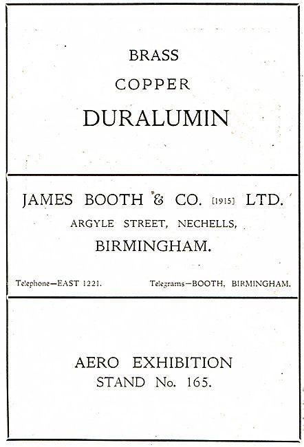 James Booth - Argyle St, Nechells, Birmingham. Brass Copper Dural