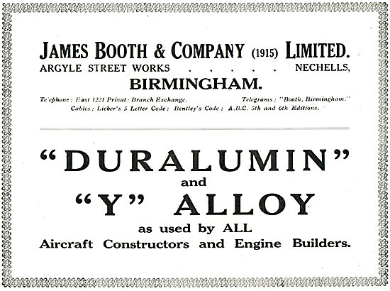 James Booth Duralumin & Y Alloys For Aircraft