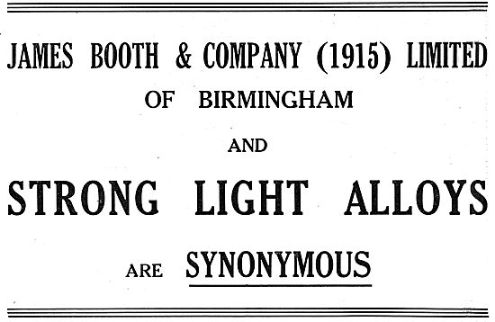 James Booth Strong Light Alloys For Aircraft Constructors