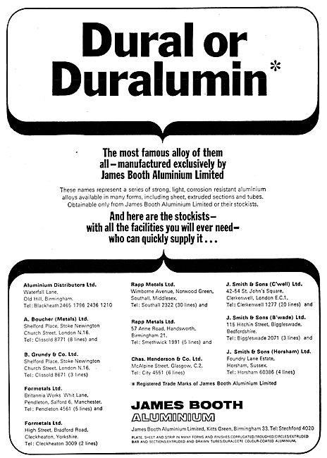 James Booth Aluminium Alloys - Dural Duralumin