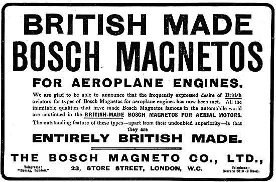 British Made Bosch Magnetos For Aeroplane Engines