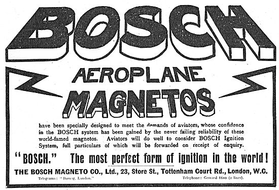 Bosch Aeroplane Magnetos - The Most Perfect Form Of Ignition