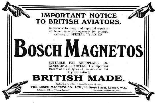 Important Notice To British Aviators About Bosch Aero Magneto