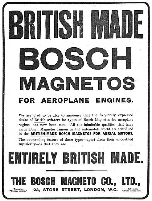 British Made Bosch Aeroplane Magnetos