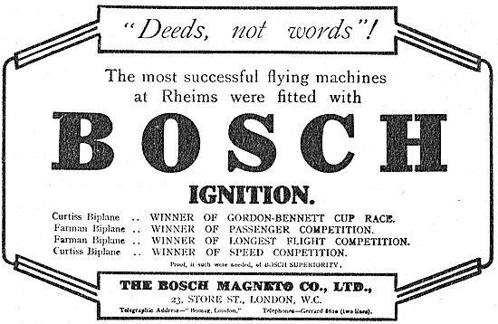 Deeds Not Words! Bosch Aeroplane Magnetos