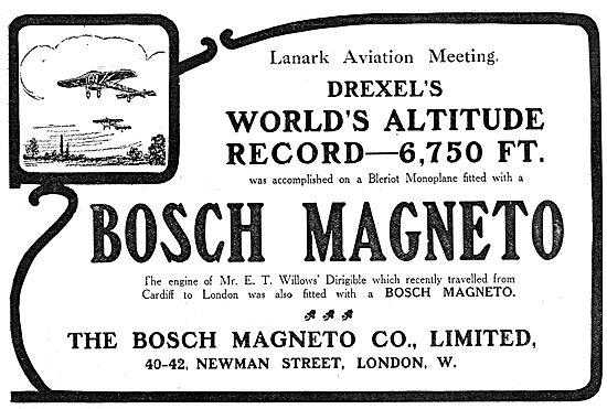 Bosch Aeroplane Magneto - Drexel Altitude Record Lanark Meeting