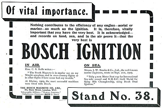 Bosch Magneto In The Air And On The Sea