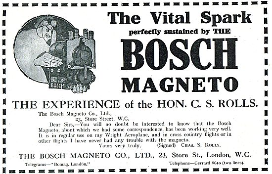 Bosch Aeroplane Magnetos Give You That Vital Spark