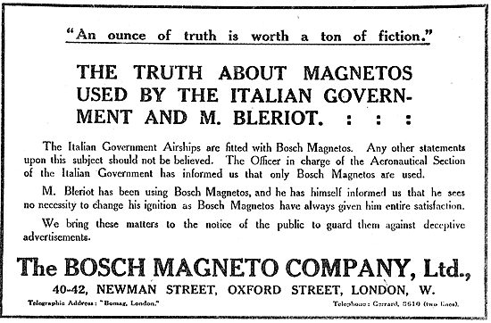 The Truth About Magnetos Used By Bleriot & The Italian Govt