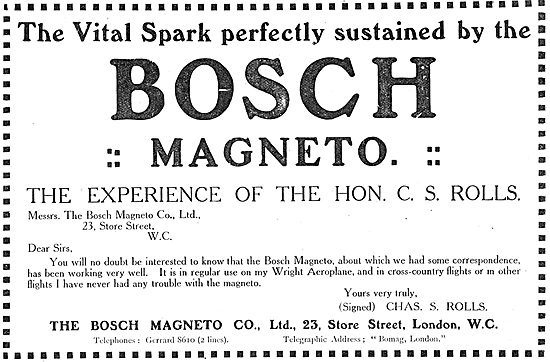 The Vital Spark Perfectly Sustained By Bosch Magnetos
