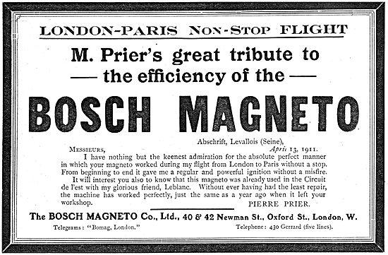 Bosch Magneto - Prier London Paris