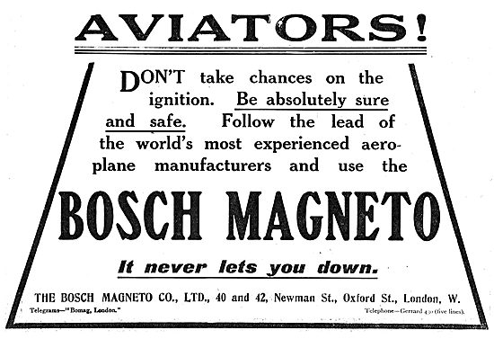 Aviators Dont Take Chances- Fit Bosch Magnetos
