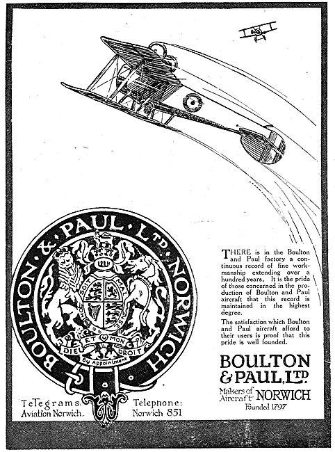 Boulton & Paul - Aircraft Manufacturers