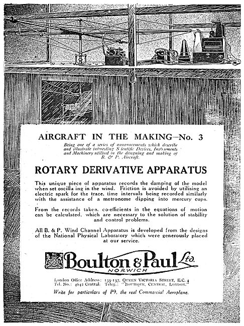 Boulton & Paul - Rotary Derivative Apparatus