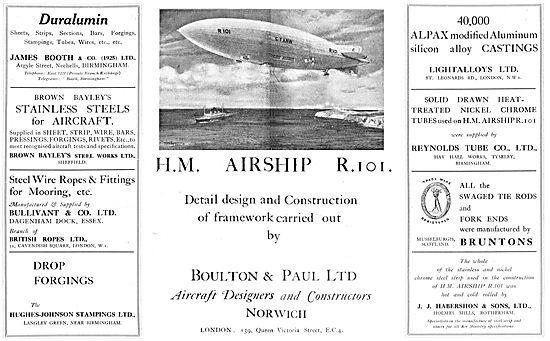 HM Airship R101 - Detail Design & Construction Boulton & Paul