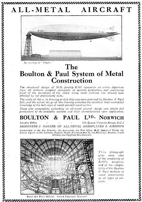 Boulton & Paul R101 Airship
