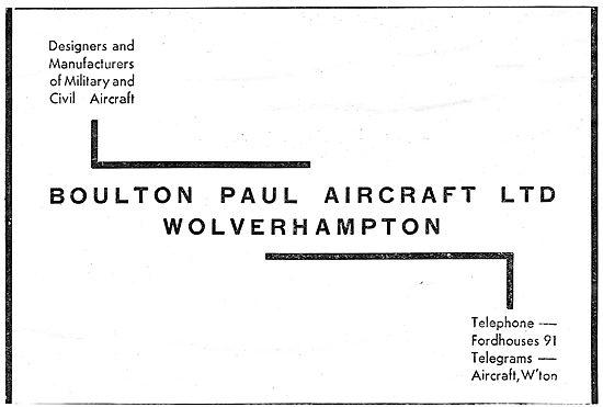 Boulton Paul Aircraft - Wolverhampton
