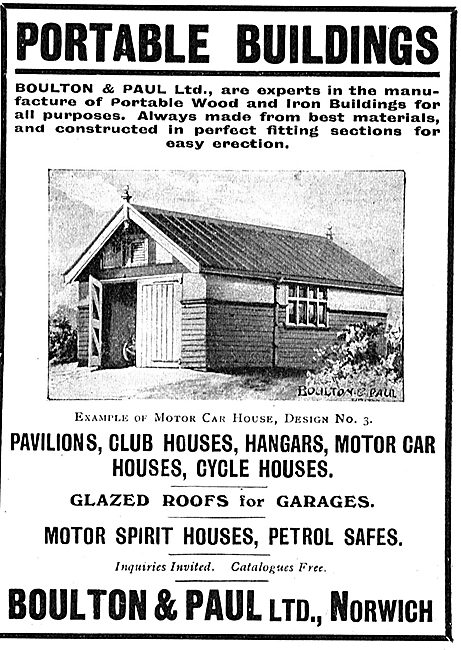 Boulton & Paul Ltd Norwich - Portable Buildings For Airfields
