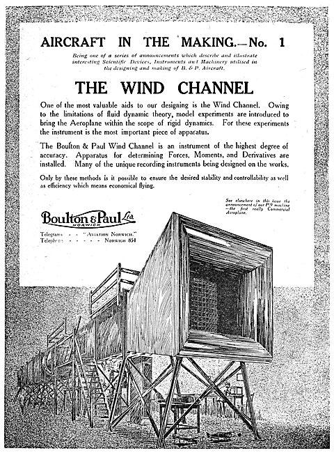 Boulton & Paul Wind Channel