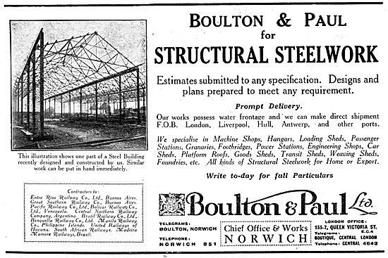 Boulton & Paul Structural Steelwork