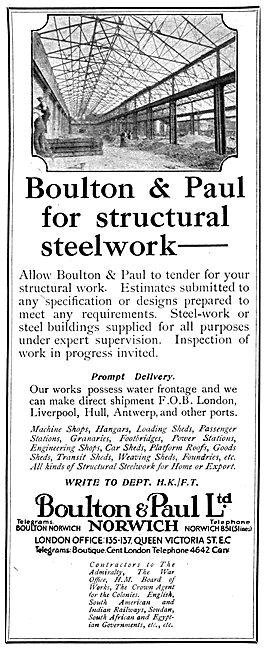 Boulton & Paul Hangars & Structural Steelwork