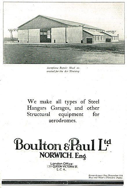 Boulton & Paul - Aeroplane Repair Shed For The Air Ministry