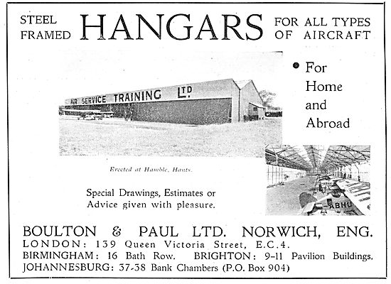 Boulton & Paul - The AST Aeroplane Hangar At Hamble