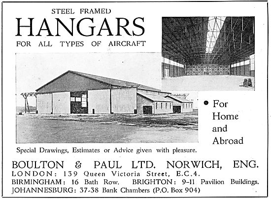Boulton & Paul - Steel Framed Hangars For All Types Of Aircraft