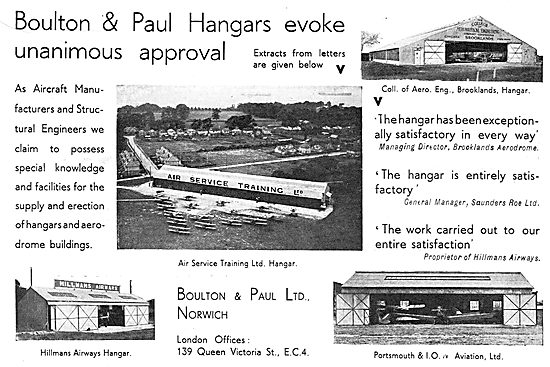 Boulton & Paul - Aeroplane Hangar For AST