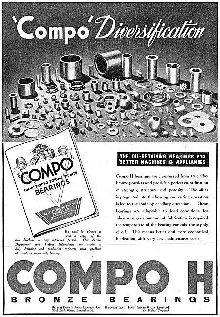Bound Brook Bearing COMPO H Bronze Bearings 1942