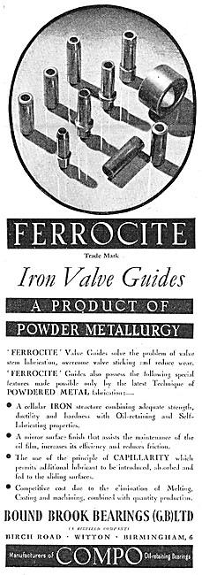 British Bound Brook Bearings - FERROCITE Valve Guides