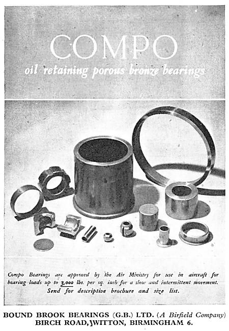 British Bound Brook Bearings - COMPO Porous Bronze Bearings