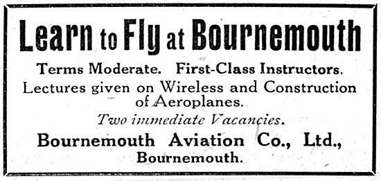 Bournemouth Aviation - Flying School 1916