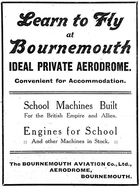 Bournemouth Aviation - Flying Training 1916