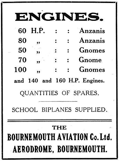 Bournemouth Aviation - School Machine Aero Engines