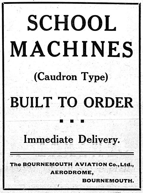 Bournemouth Aviation - Flying School. School Machines Built