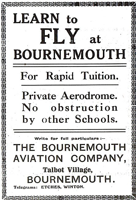 Learn To Fly At Bournemouth With Bournemouth Aviation