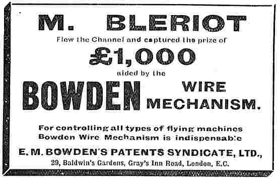 The Bowden Wire Mechanism For Controlling Flying Machines