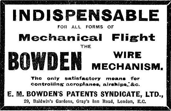 Bowden Wire Mechanism Is Indispensable For Mechanical Flight