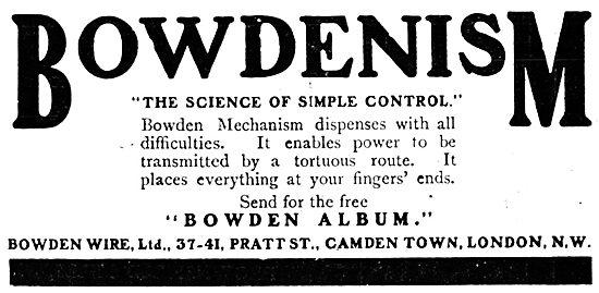 Bowden Wire Control Mechanism