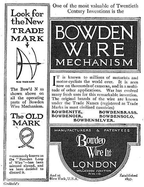 Bowden Wire Mechanism For Aircraft.