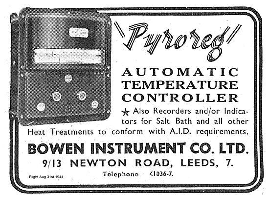 Bowen Instrument Pyroreg Automatic Temperature Controller