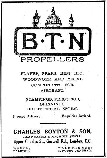 Charles Boyton, Dalston. BTN Propellers