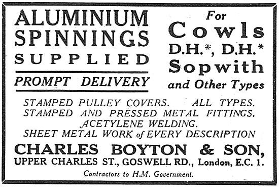 Charles Boyton. Aluminium Spinnings. Upper Charles St, Goswell Rd