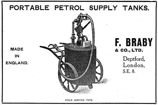 Fredk Braby - Portable Petrol Supply Tanks - WW1 Advert