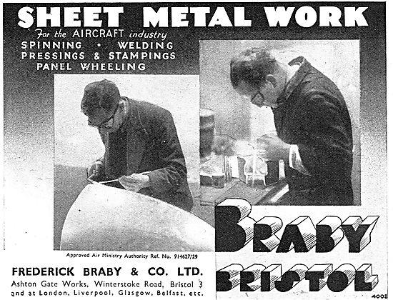 Fredk Braby - Spinning, Welding & Sheet Metal Work