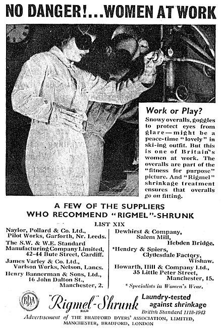 Bradford Dyers' Association Rigmel-Shrunk Workwear