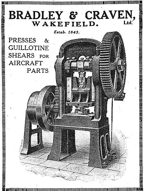 Bradley & Craven Presses & Guillotine Shears