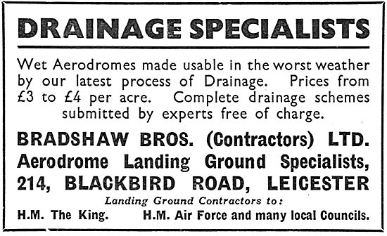 Bradshaw Bros. Airfield Construction Contractors. Groby Rd. Leics