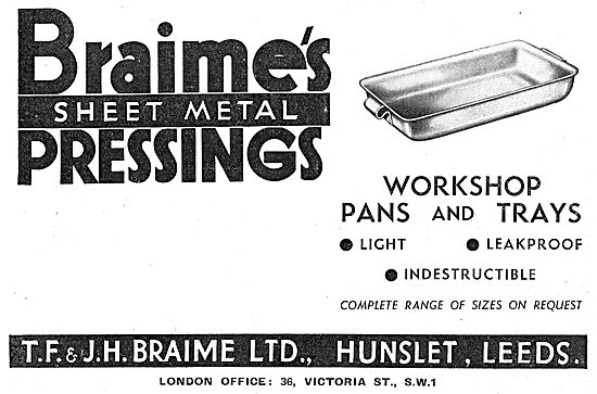 Braimes Sheet Metal Pressings - Manufacturing